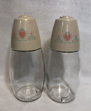 Corning Ware Corelle Salt & Pepper Tall Shaker Set Forever Yours Hearts Pattern