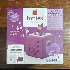 Tonies Starter Set Toniebox Audio Player Audio Fun For Kids Purple New SEALED
