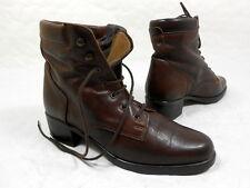 Bottines à lacet  Boots lace up Botas Stivali Stiefelletten cuir leather 37