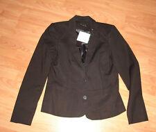 Vila Pure Black Smart Suit Blazer Jacket Size L 12-14 BNWT