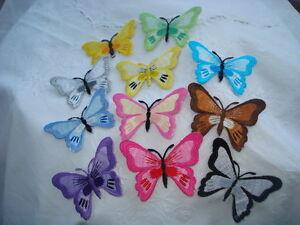 Butterfly Motifs, 5.5cm x 7cm, Iron On, 11 Colours