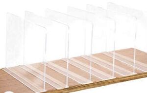 Acrylic Shelf Seperators 6 pack