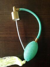 A standard size of spray atomizer with  light Green tassel and bulb ,new,