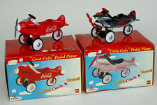 Anique 2 Sets Cola Die Cast Pedal Plane Airplane Rare Limited Edition