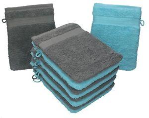 Waschlappen Frottee 100/% Baumwolle Waschhandschuh Daily 4er Set 4 St/ück Farbe:Mint 29 Farben w/ählbar