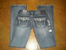 New Premium Vanity Collection Curvy Sasha Boot Light Wash Bling Jeans 25 X 33