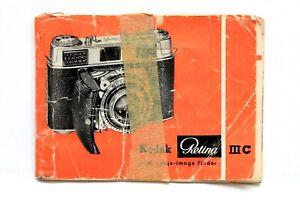 Kodak Retina IIIC Instructions #P4133