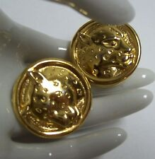 Golden Textured COUGAR or WILDCAT Earrings