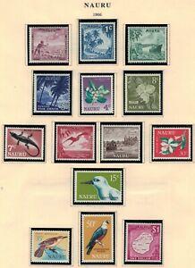 Nauru Scott 58 - 71 in MNH Condition