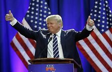 "DONALD TRUMP USA PRESENENT 2016 ~ A4 GLOSSY PHOTO POSTER PRINT 11.25"" X 8.25"""