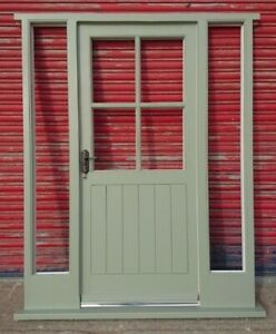 Cottage style Wooden Hardwood Front Door + Sidelights Made to measure! Bespoke!