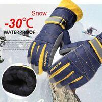 Warm Waterproof Winter Skiing Gloves Snowboard Cold Snow Mittens For Women Men