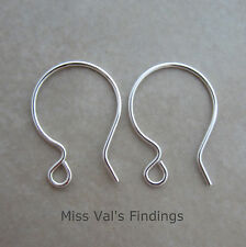 12 sterling silver filled ear wires 20 gauge french hook hoop style