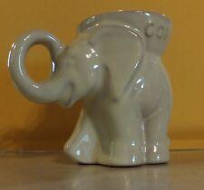 FRANKOMA POTTERY GOP 1991 ELEPHANT IVORY GLAZE MUG CUP U.S. PATENT D215-868