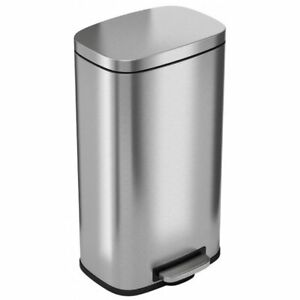 Soft Step Stainless Steel 30 L / 8 Gallons Trash Can Free Shipping