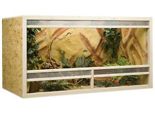 Bois Terrarium 120 x 80 x 60 cm plaque OSB, Front de ventilation (L x P x H)