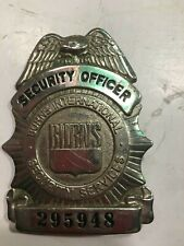 Burns International Security Services,Security Officer Metal Badge, NUMBERED