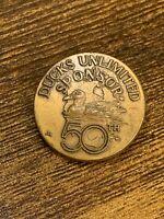 VTG 1987 Ducks Unlimited Sponsor 50th Anniversary Pin ~ LR Kaatz Bronze