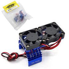 Yeah Racing YA-0408BU Blue Aluminum 540 Motor Heat Sink w/ Twin Cooling Fans