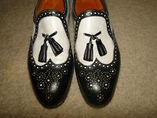 Vintage Leather Shoes Two Tone John Lobb Lopez Loafer, Black & White Sz 6.5 -7