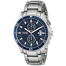 Fossil Fall 2014 Men's 45mm Silver Steel Bracelet & Case Glass Watch ch2937