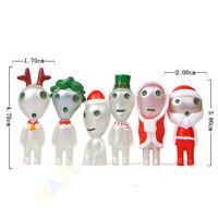 6pcs Ghibli Princess Mononoke Forest Spirit Elf Christmas Ver. Figure Model Toy