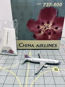 """Dragon Wings 1:400 China Airlines """"1997s color"""" Boeing 737-800 B-18601"""