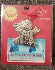 Lenox Holiday Holders Snowman Gift Card Holder Ornament *new in package*