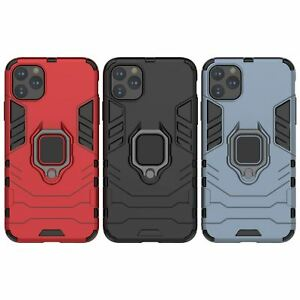 Hybrid Pc Case Cover For Apple iPhone 11 Pro Max X 6 7  8 Se With Ring Holder
