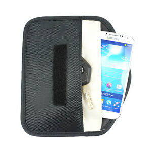 Black Anti-Tracking RFID Blocker Anti-Radiation Case Bag-iPhone Cell phone etc