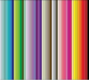 100 quilling paper strips in various colours 5mm wide