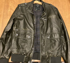 GUESS Los Angeles 1981 Men's Leather Jacket- Size Large