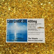 "COD LIVER OIL 400mg 365 Capsules - 1 per day  ""FREE POSTAGE""  (L)"