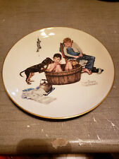 New listing 1975 Norman Rockwell Limited Edition Gorham Winter - A Lickin' Good Bath 10-3/4