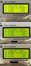 Industrial Digital Bridge Tester Auto Lcr Esr Meter Resistance Capacitor 10 Gain
