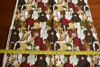 """By 1/2 Yd, Guitars on Brown Olive & Red Quilt Cotton, AOM/""""Rock n Roll"""", N2242"""