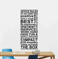 Office Rules Wall Decal Word Cloud Vinyl Sticker Gift Decor Team Poster 97bar