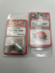 Great Planes Easy Fueler Valve For Glow Plug GPMQ4160 + Filter New NOS 1115