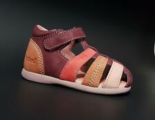 Brand New $70 KICKERS Toddler Girls LEATHER Sandals Fashion Size 7 USA/23 EURO