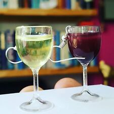 Unique 'IN CELEBRATION OF WINE' EARRINGS handmade GLASSES glass MINIATURE vino