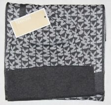 New Michael Kors Women's MK Logo Grey 2 Piece Hat and Scarf Set