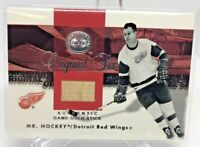 2001 FLEER GREATS OF THE GAME GAME USED STICK GORDIE HOWE  Mr. Hockey WINGS MINT