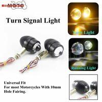 2X Alum Motorcycle Bullet Amber LED Turn Signal Light Running Lamp Indicator 12V