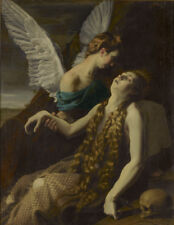 """high quality oil painting handpainted on canvas  """"Mary Magdalen and angel""""@13493"""