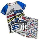 NEW DISNEY STORE STAR WARS R2D2 COTTON BOYS PJ PAL PYJAMAS SET SIZE 4-5