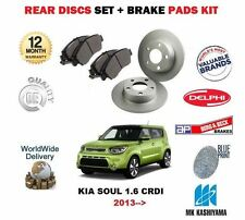 FOR KIA SOUL 1.6 DT CRDI D4FB G4FB 2013 > NEW REAR BRAKE DISC AND PADS SET