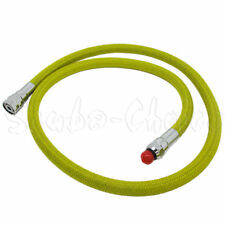"Scuba Diving 36"" Nylon Braided Yellow Low Pressure Regulator Hose 2nd Stage"