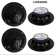 "NEW PYLE PLMR41B 4"" Dual Cone Waterproof Stereo Speakers System Car 2Way (QTY 4)"