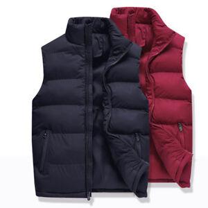 Winter men's thickened vest coat cold proof waistcoat zipper slim down cotton