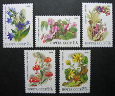 Russia 1988 5687-5691 MNH OG Russian USSR Deciduous Forest Flowers Set $4.75!!